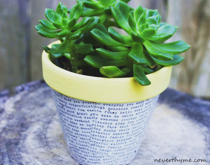 Decoupaged Pot