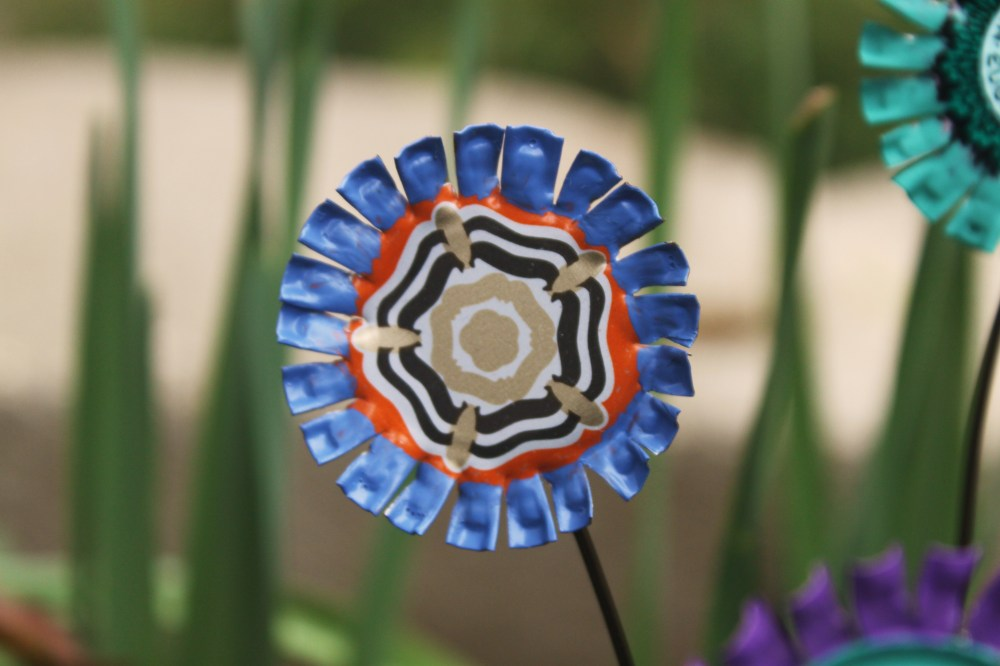Easy DIY Bottle Cap Flowers