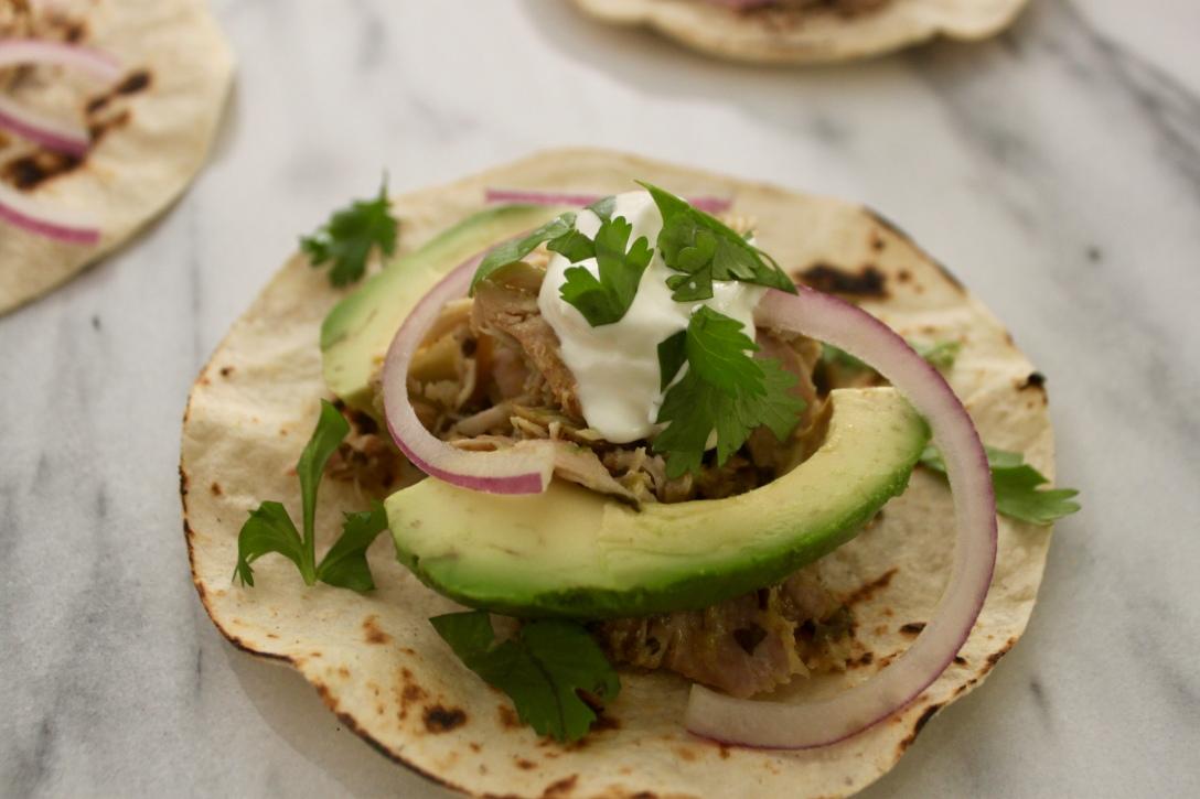 Easy Chicken Tomatillo Tacos
